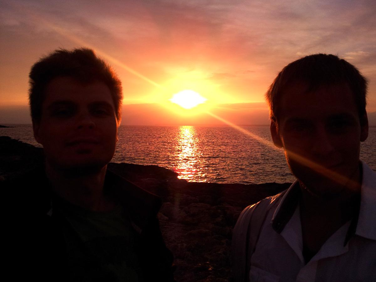 Sonnenuntergang in Sant Jordi - Strake Tour, starker Ausblick
