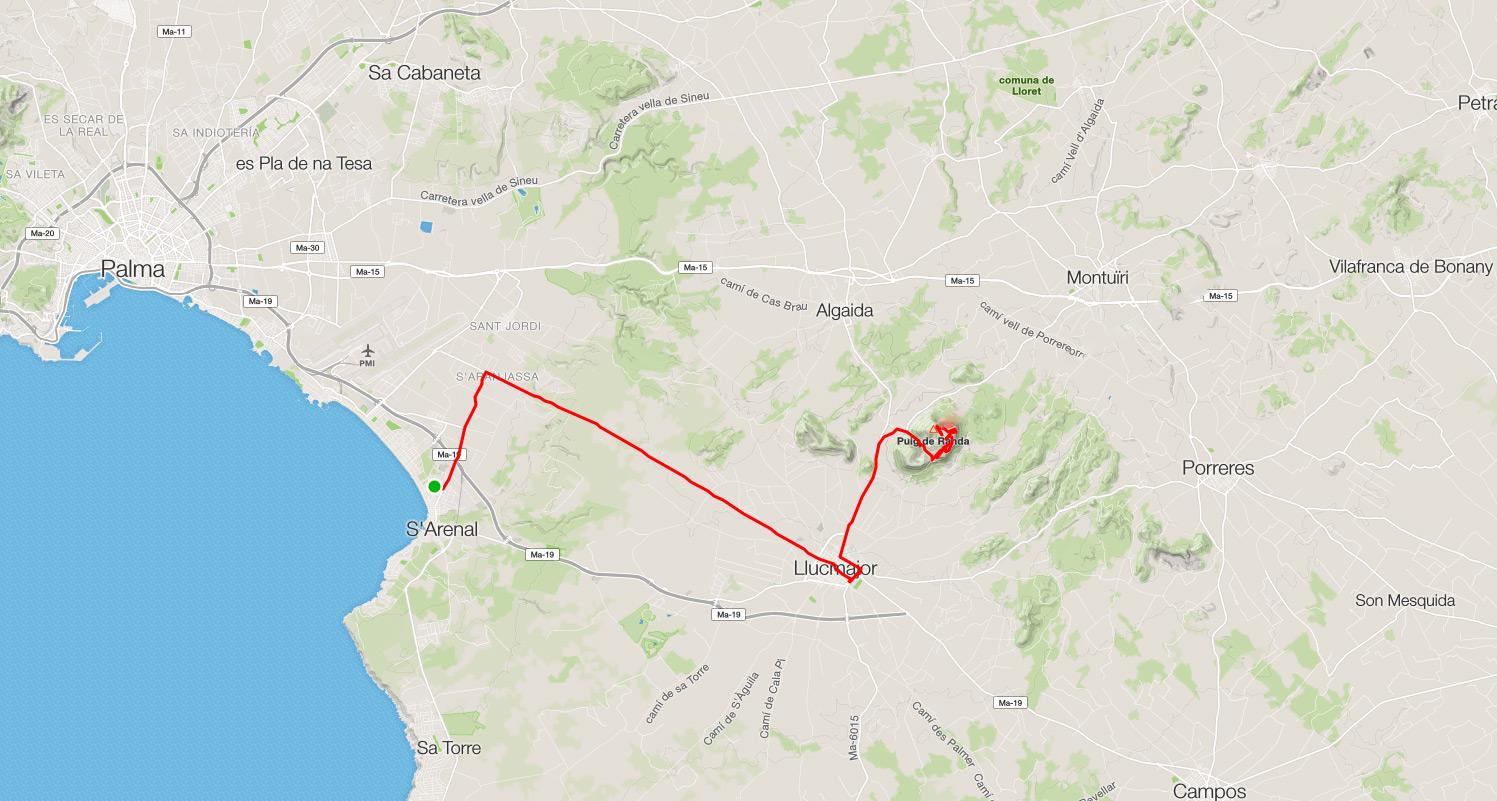 Mallorca Karte Umriss.Tag 1 Mallorca Mit Dem Rennrad 2015
